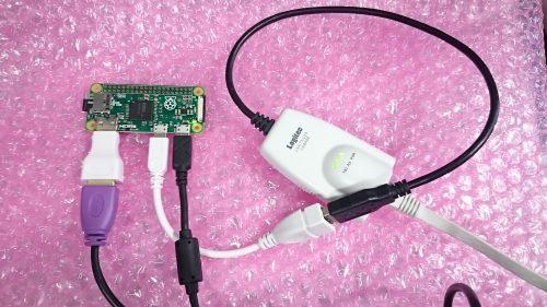 USBイーサネットコンバータは自動で認識された